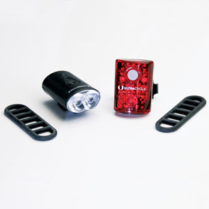 Ultracycle Rechargeable Light Set 100/15 Lumens