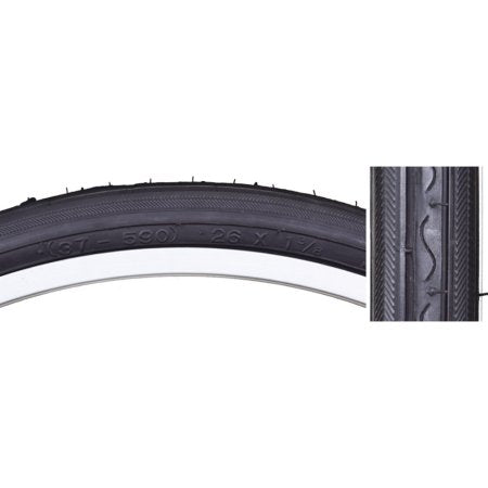 Sunlite 26 x 1 3/8 Black/Black Road Tire