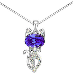 Collar dije gato brillantes crystal cat pendant necklace witty collar dije gato brillantes crystal cat pendant necklace aloadofball