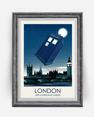 Dr Who London Travel Poster