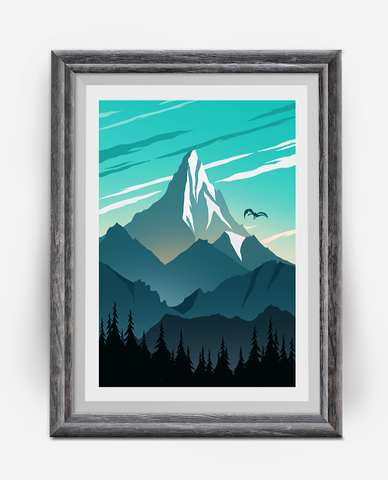 The Lonely Mountain Travel Poster