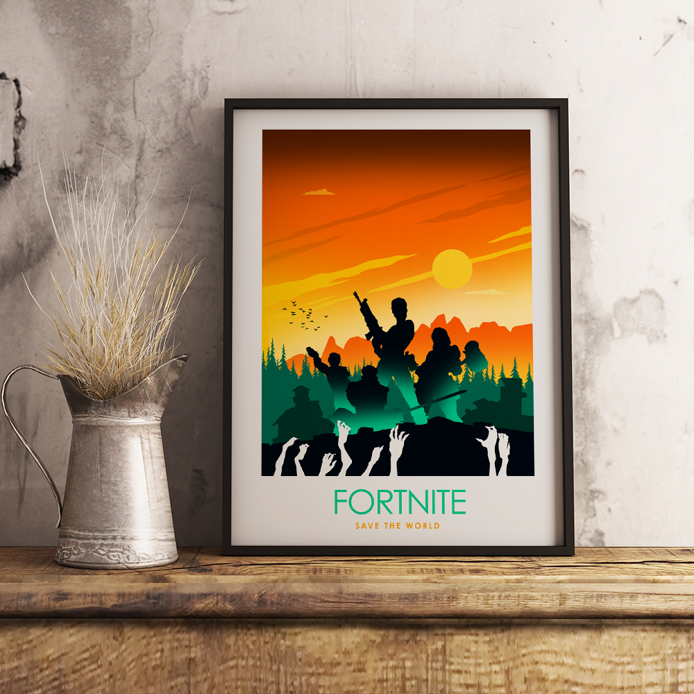 Fortnite Save The World Video Game Poster