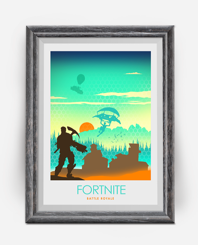Fortnite Battle Royale Video Game Poster