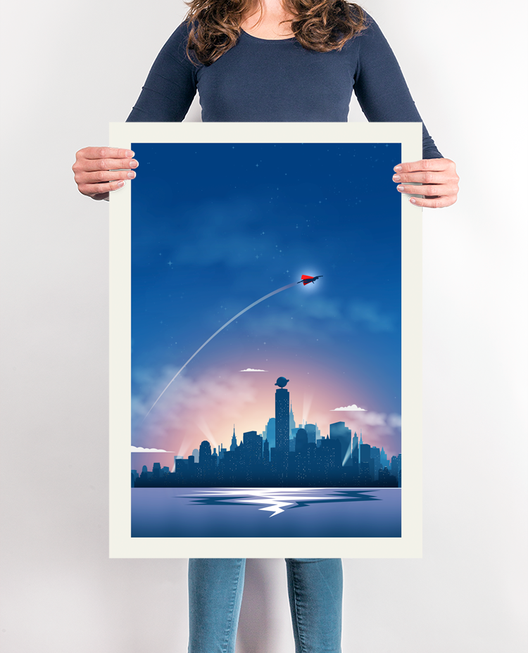 Superman Travel Print Vintage tourism posters