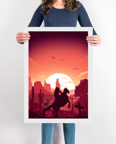 Cowboy Redemption Video Game Poster