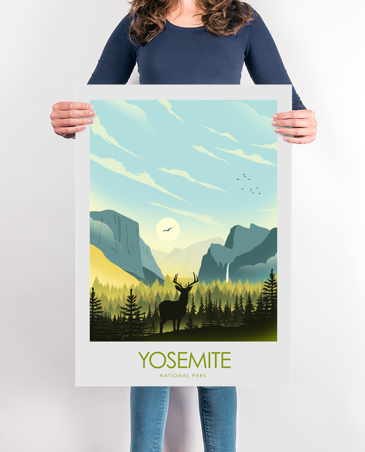 Yosemite National ParkTravel Poster