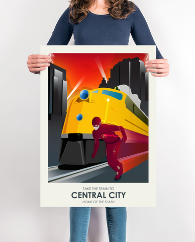 The Flash Central City Travel Poster