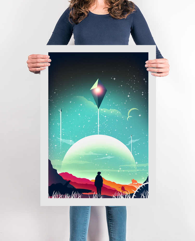 The Traveller Gaming Poster