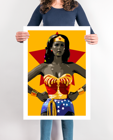 Wonder Woman Superhero Art, Superhero Print, Superhero Poster