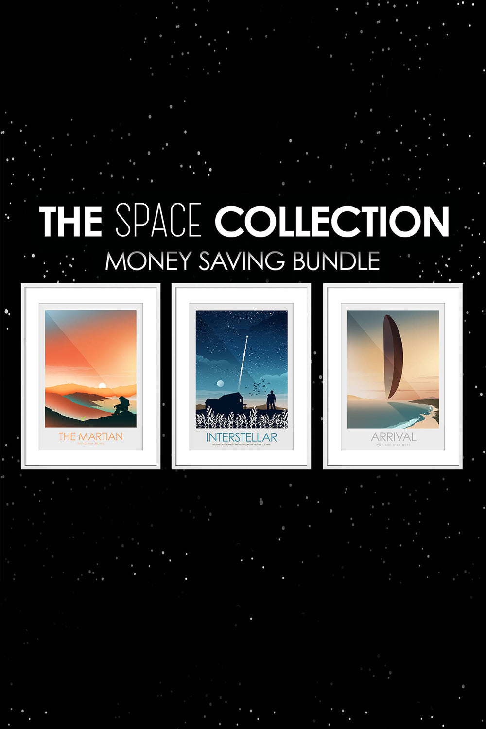 The SPACE Collection - Interstellar, The Martian & Arrival - Money Saving Offer