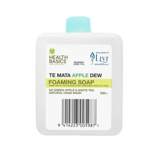 Cottonsoft Livi 1716 'Health Basics' Te Mata Apple Dew Foaming Soap
