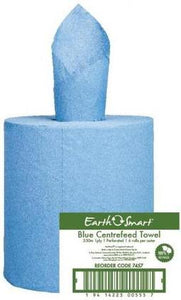 Cottonsoft Earthsmart 7457 Recycled Centrefeed Blue 1-Ply Paper Towel Roll