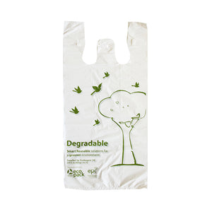 Singlet Bags - White - Degradable - ED-5941