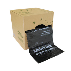 80L Degradable Black Rubbish Bags In Dispenser Box - ED-5944