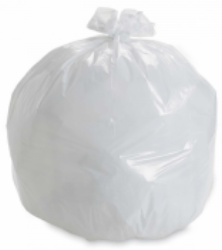 60L White Rubbish Bags With Tear Top - S3170