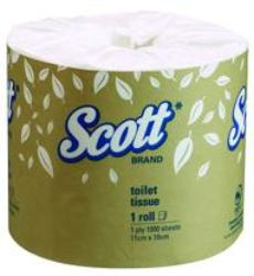 Kimberly Clark Scott 4760 White 1-Ply Wrapped Toilet Roll
