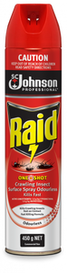 Raid Oneshot Crawling Insect Surface Spray Odourless 450g