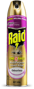 Raid One Shot Multipurpose Insect Killer Odourless 320g