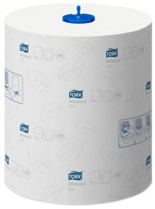 Tork 290067 H1 White 2-Ply Paper Towel Roll