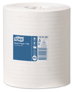 Tork 120155 Centrefeed M2 White 1-Ply Paper Towel Roll