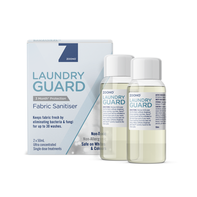 Zoono Laundry Guard Fabric Sanitiser 2 x 50ml