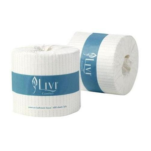 Cottonsoft Livi Essentials 1001 Embossed White 2-Ply Wrapped Toilet Rolls