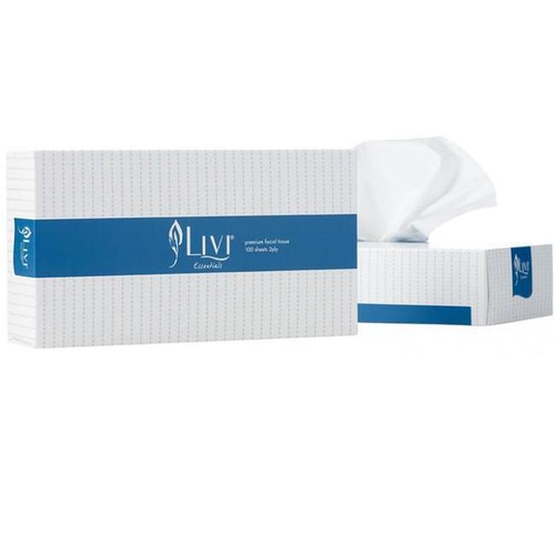 Cottonsoft Livi Essentials 1301 Rectangle White 2-Ply Facial Tissue