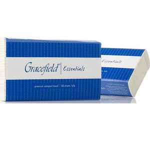 Cottonsoft Gracefield Essentials 1456 Interfold Compact White 1-Ply Paper Towels