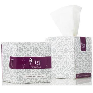 Cottonsoft Livi Impressa 3301 Luxury Cubed White 3-Ply Facial Tissues