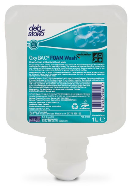 Deb Oxybac Foam Wash 1L