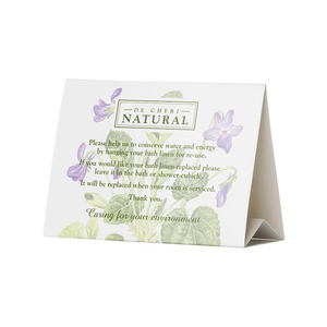 Healthpak De-Cheri Natural Display Tent Cards