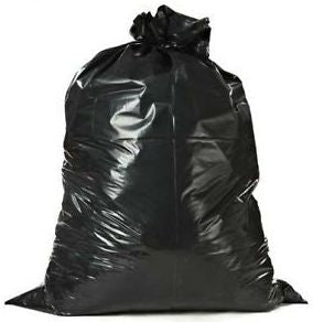 75L Heavy Duty Black Rubbish Bags With Tear Top - S03180