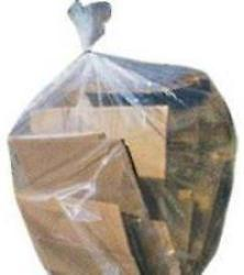 60L Natural Clear Rubbish Bags - Extra Heavy Duty - S2120