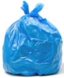 72L Blue Rubbish Bag With Tear Top - S3161