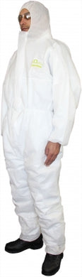 Coveralls QTech Large White Breathable Body Shield