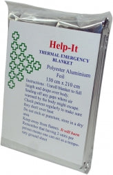 Thermal Emergency Blanket Silver Disposable
