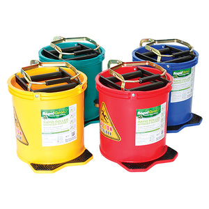 Rapidclean Coloured Wringer Bucket 16L