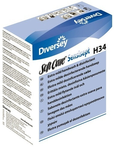Diversey Softcare H3 Sensisept Mild Disinfecting Hand Wash 800ml Cartridge