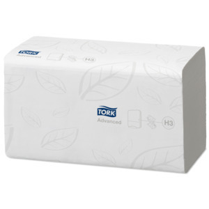 Tork 290163 Interfold H3 White 1-Ply Paper Towel
