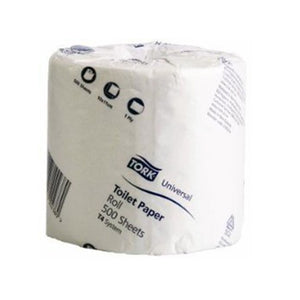 Tork 2185914 T4 White 1-Ply Wrapped Toilet Roll