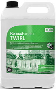 "Kemsol ""Green"" Twirl Laundry Liquid"