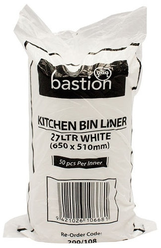 Bastion Kitchen Tidy Liner Bags 27L