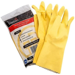 Bastion Latex Silverlined Yellow Gloves