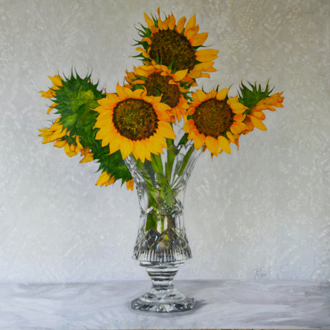 Sunflowers You Are Sunshine in a Vase - The Art of Katherine Jeans