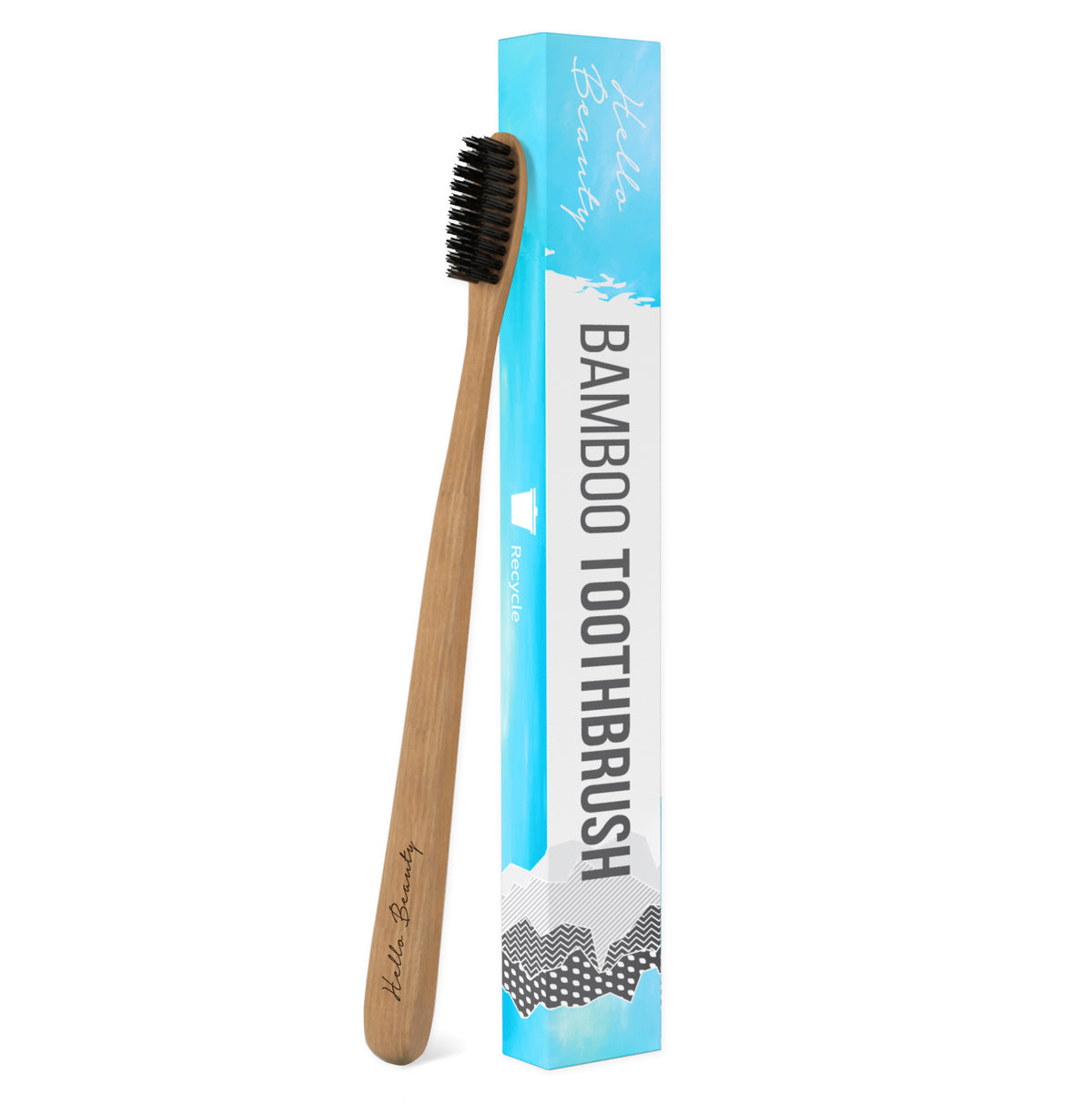 100% Natural Biodegradable Bamboo Toothbrush