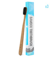 100% Natural Activated Charcoal Teeth Whitening with Bamboo Toothbrush x 3