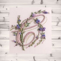 Slow Stitching Class: Monograms in Silk Ribbon and Creative Embroidery