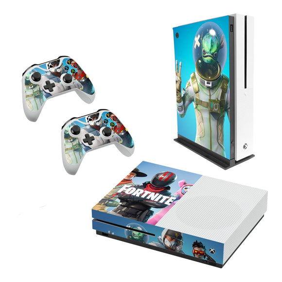 Fortnite -Decal Style Skin Set fits XBOX One S Console and 2 Controllers 002