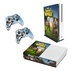 Fortnite -Decal Style Skin Set fits XBOX One S Console and 2 Controllers 008