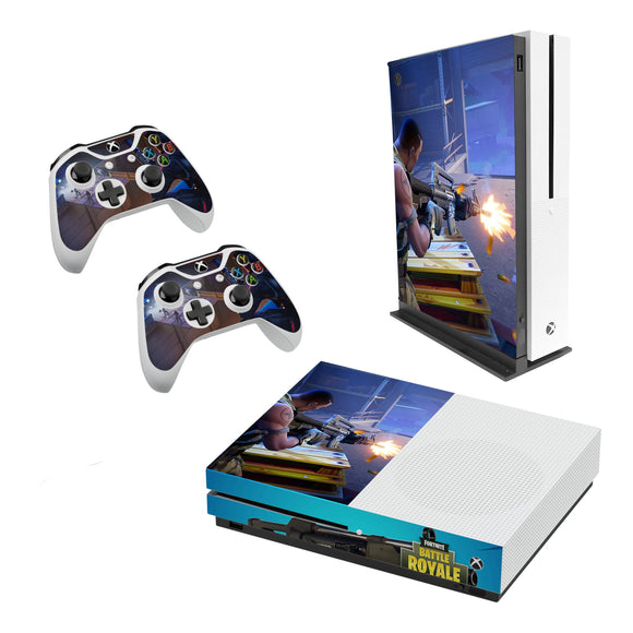 Fortnite -Decal Style Skin Set fits XBOX One S Console and 2 Controllers 009